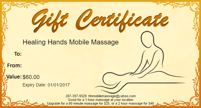 Gift Certificates are available as well